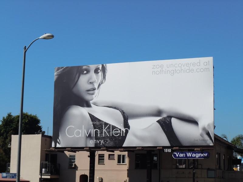 Sexy Zoe Saldana Calvin Klein envy billboard