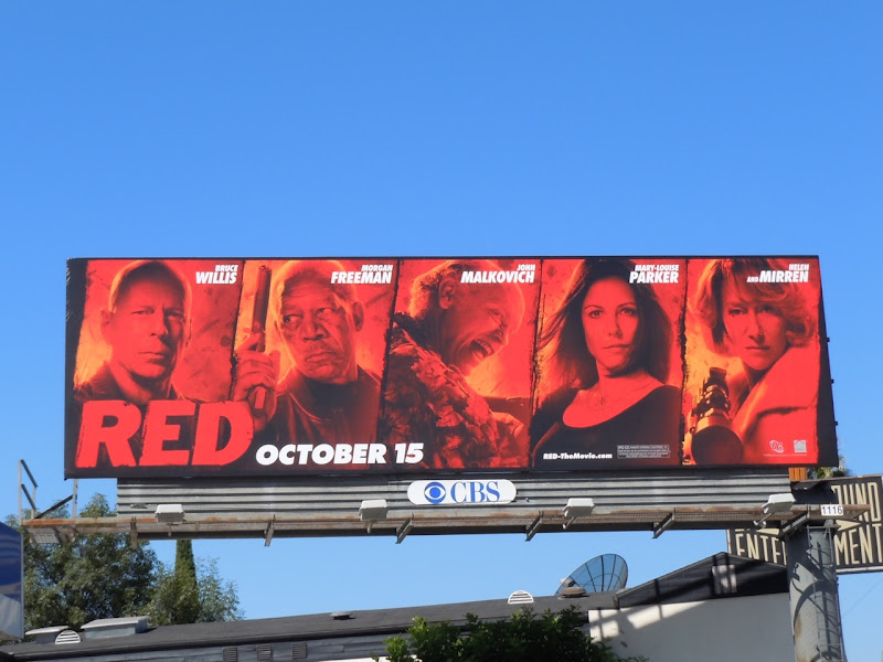 RED film billboard