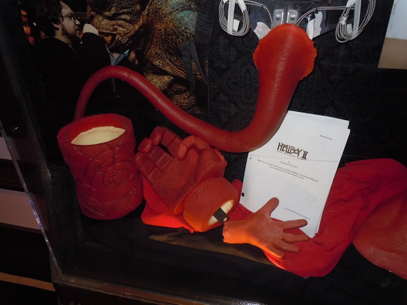 Hellboy animatronic tail and hands
