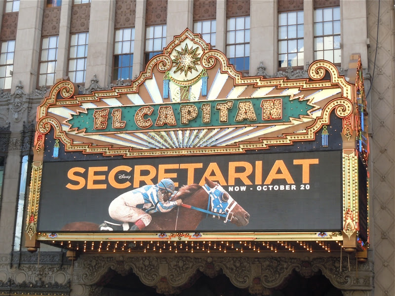 El Capitan Theatre Disney Secretariat