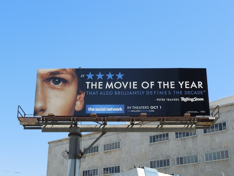 Social Network Movie of the year billboard