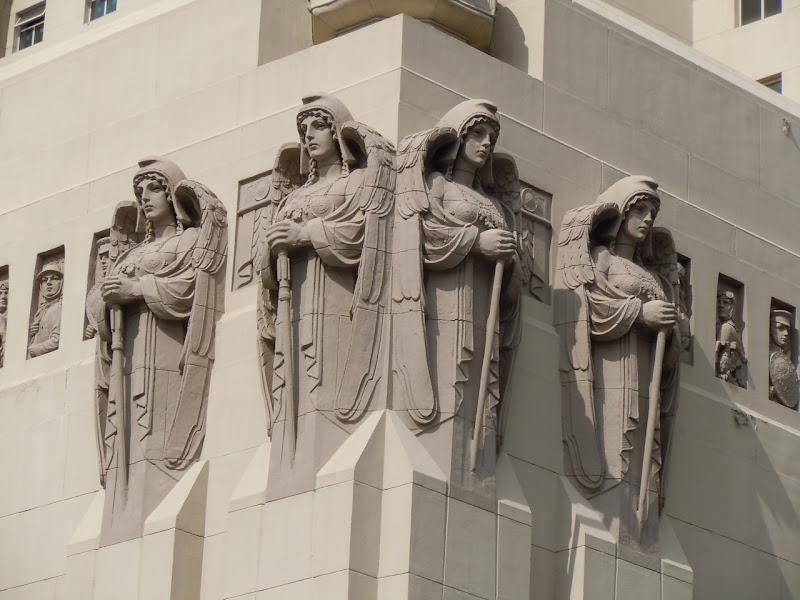 Park Plaza Hotel stone angels