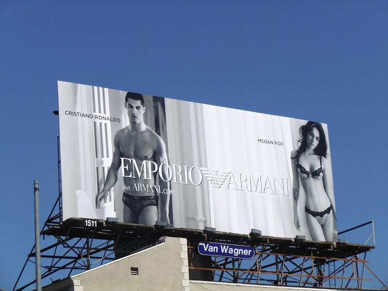 Christiano Ronaldo Megan Fox Armani underwear billboard