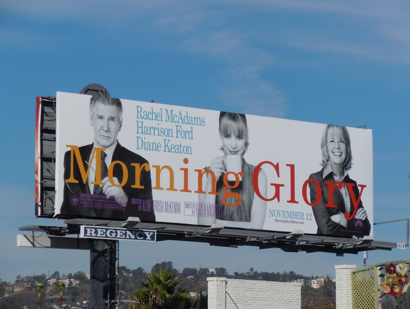 Morning Glory movie billboard