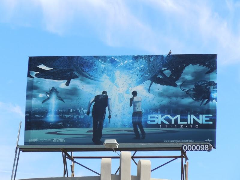 Skyline movie billboard