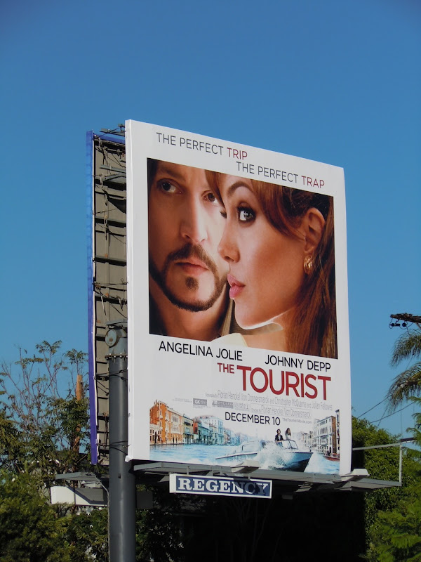 The Tourist movie billboard