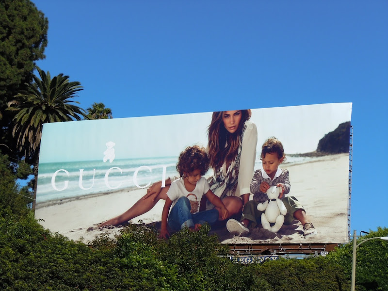 Jennifer Lopez and twins Gucci billboard