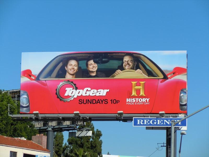 TopGear History Channel TV billboard