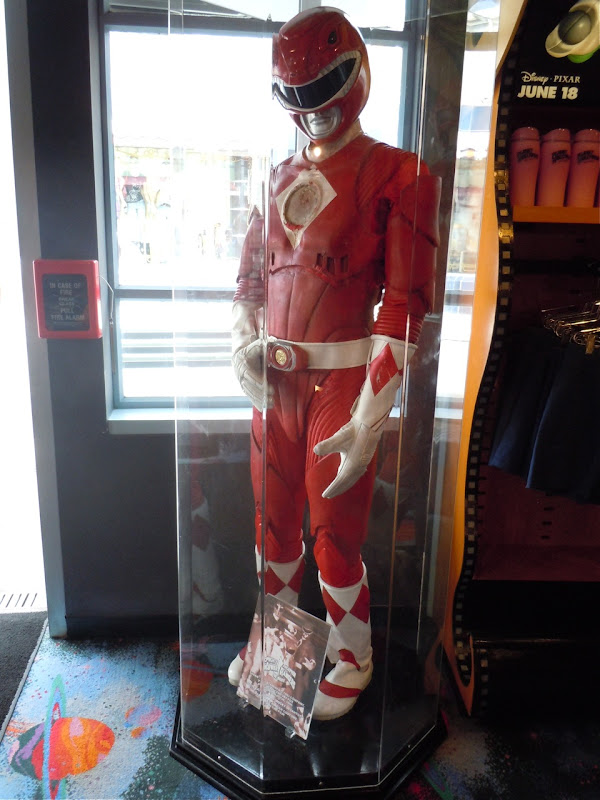 Power Rangers movie red costume display