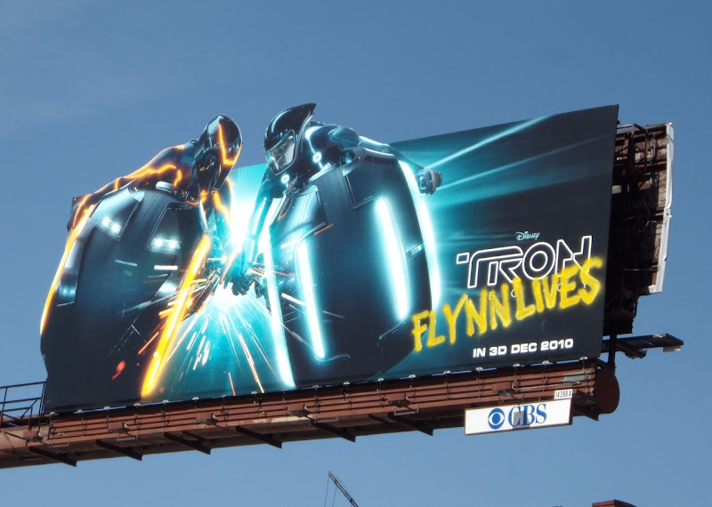 Tron Legacy Flynn Lives billboard