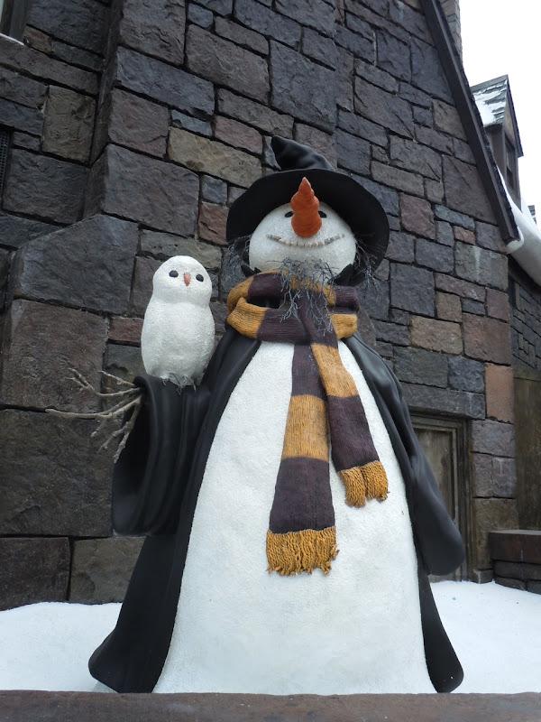 Harry Potter snowman Universal Orlando