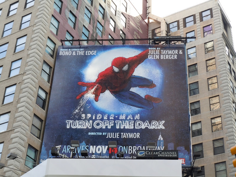 Spider-man Turn off the Dark musical billboard