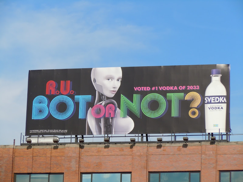 Svedka Vodka Robot billboard