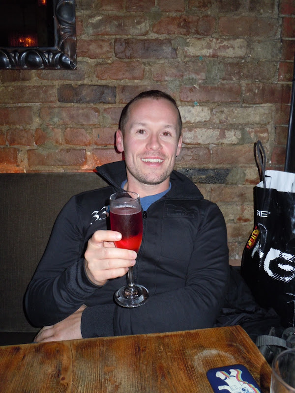 Jason enjoys Extra Virgin cocktails NYC