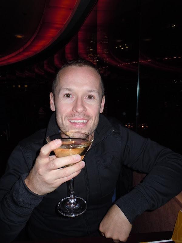 Jason enjoys The View cocktails