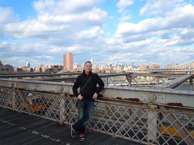 Jason on the Brooklyn Bridge