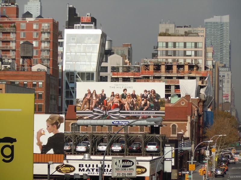 The Hilfigers Holidays 2010 billboard New York