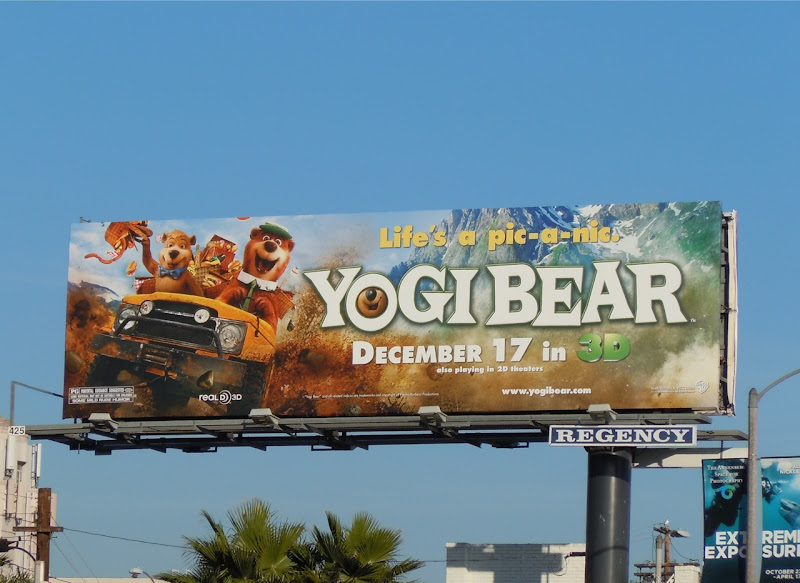 Yogi Bear movie billboard