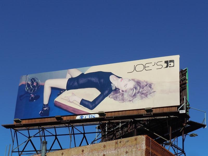 Joe's Jeans bed fan billboard