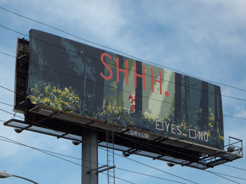 Adult Swim SHHH Santa billboard