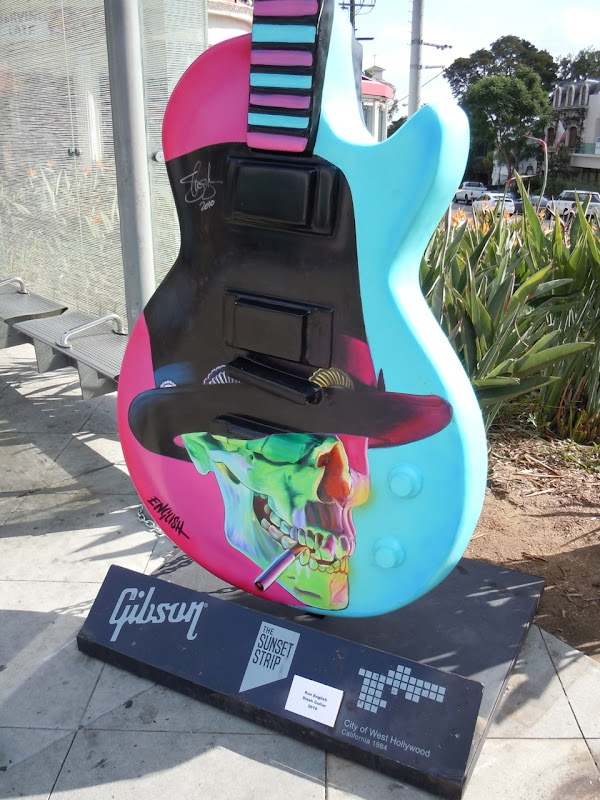 Slash Guitar sculpture Ron English