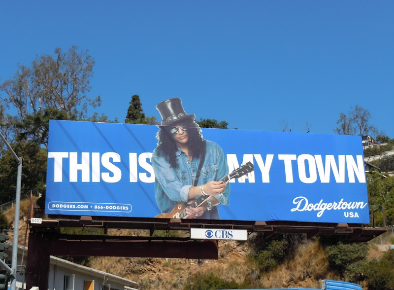 Slash Dodgertown billboard