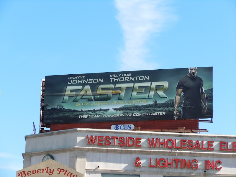 Paster Dwayne Johnson billboard