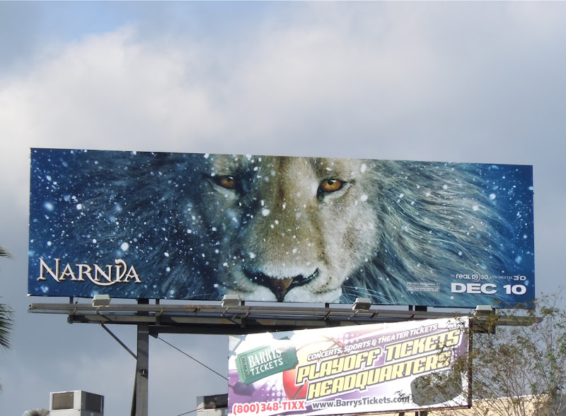 Narnia Dawn Treader Aslan billboard