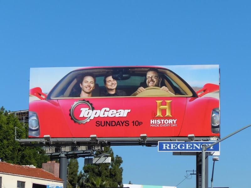 TopGear USA remake TV billboard