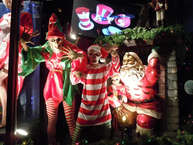 Halloween Christmas window display NYC
