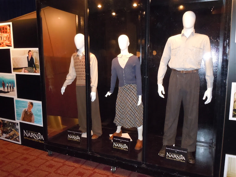 Narnia Dawn Treader movie costume display