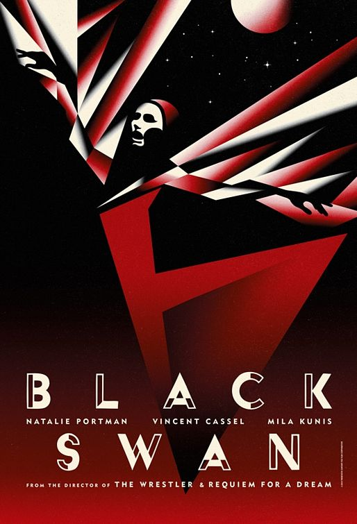 Black Swan movie poster. Darren Aronofsky's movie is essentially an