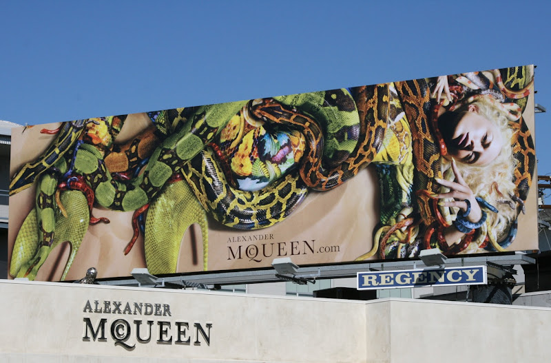 McQueen Raquel Zimmermann snakes billboard