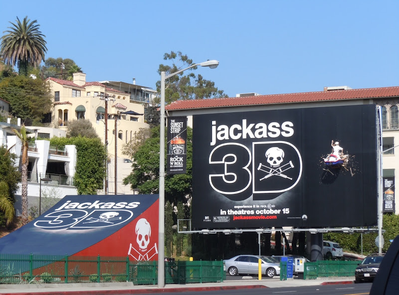 Crashed jetski Jackass 3D billboard