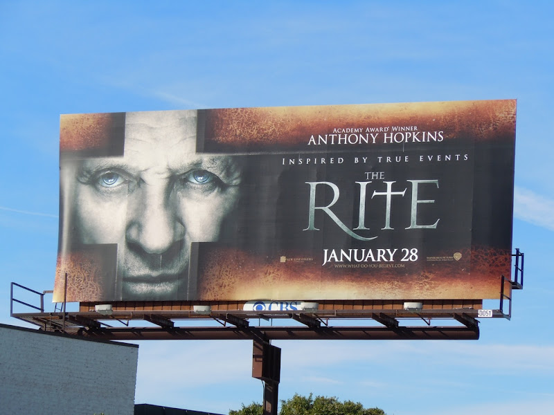 The Rite movie billboard