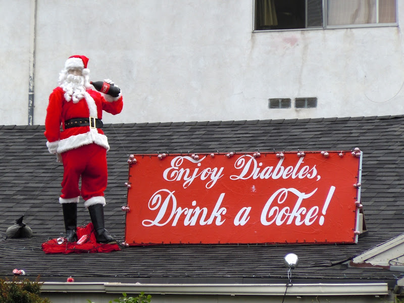 Coca-Cola diabetes rooftop Santa
