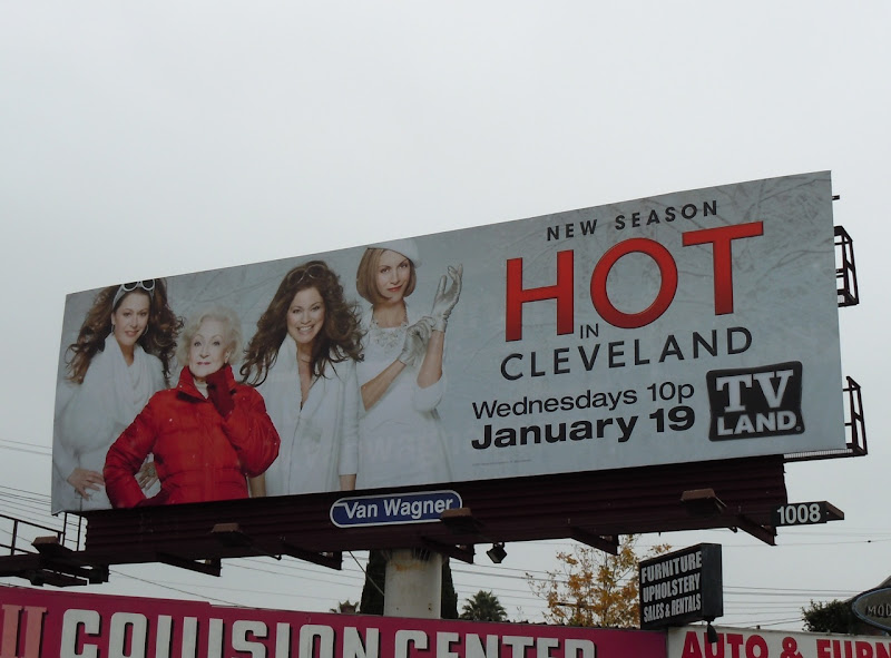 Hot in Cleveland TV billboard