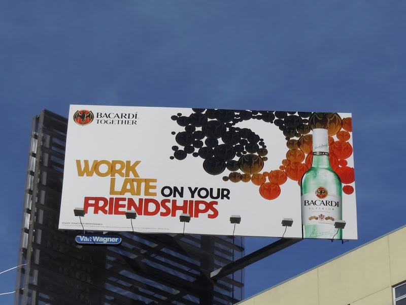 Bacardi work late billboard