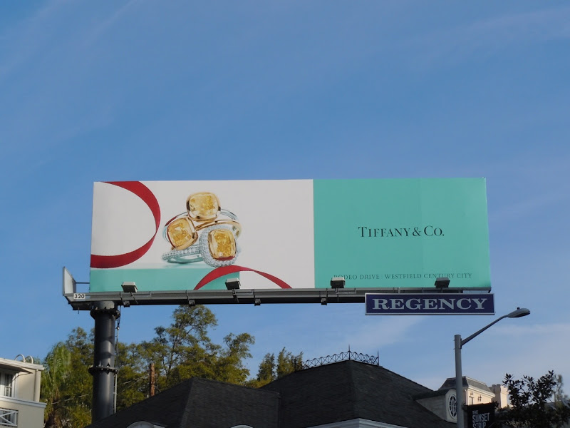 Tiffany diamond ring billboard