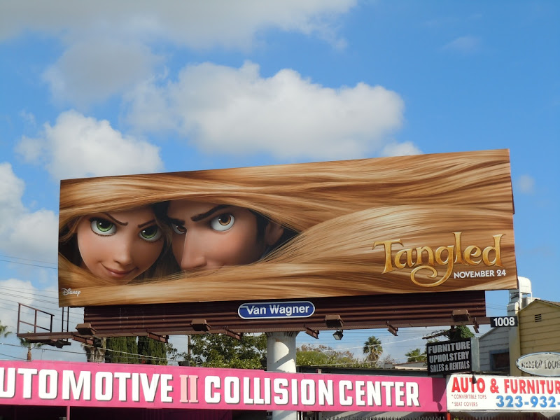 Tangled movie billboard