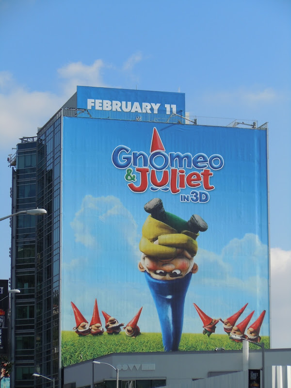 Gnomeo and Juliet movie billboard