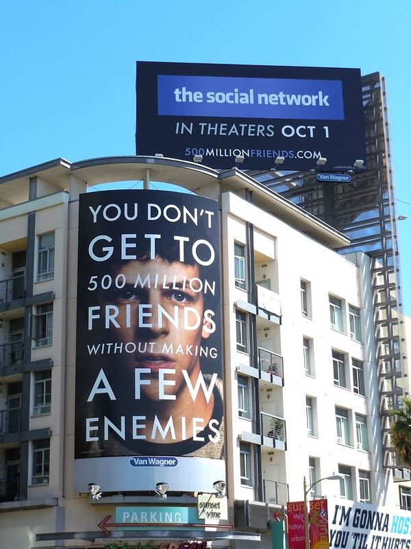 The Social Network film billboards