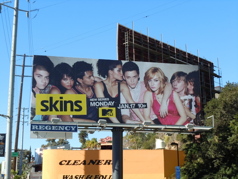 Skins US version billboard