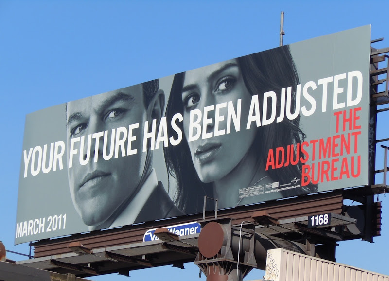The Adjustment Bureau movie billboard