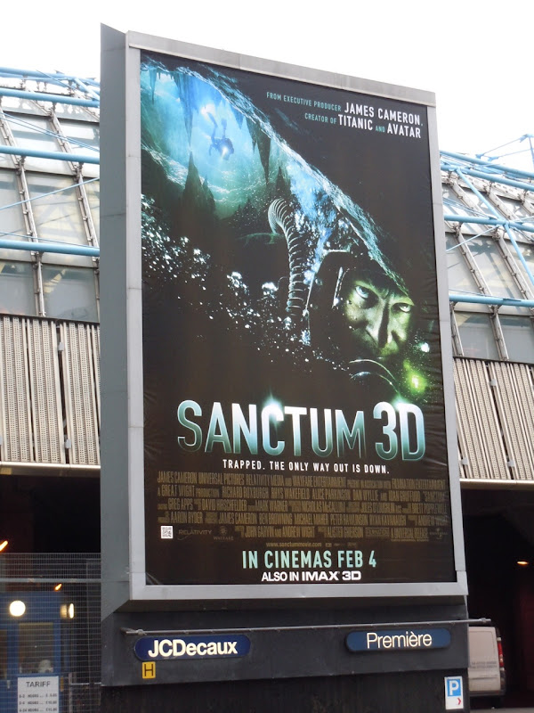 Sanctum movie UK billboard