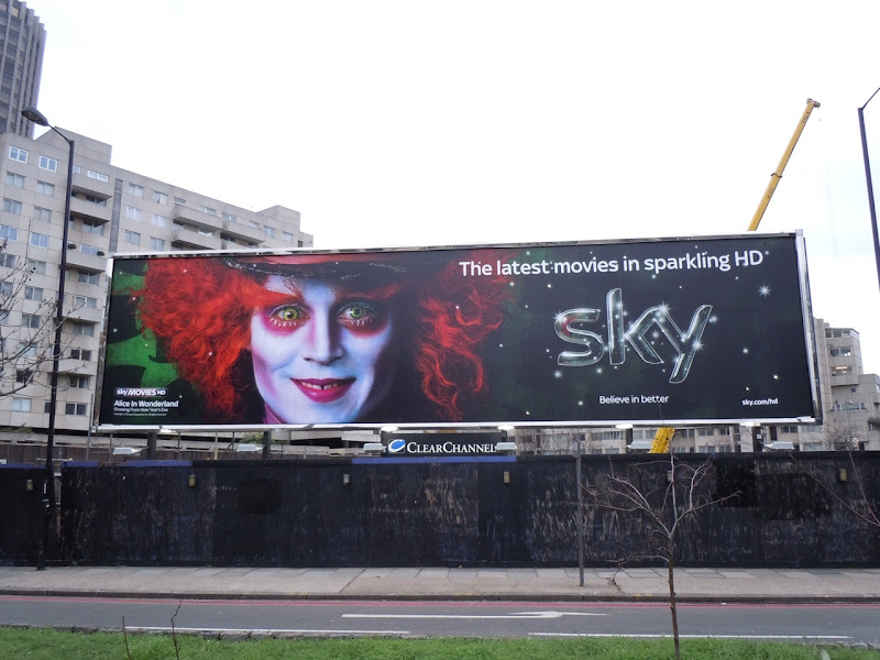 Mad Hatter SKY movie billboard