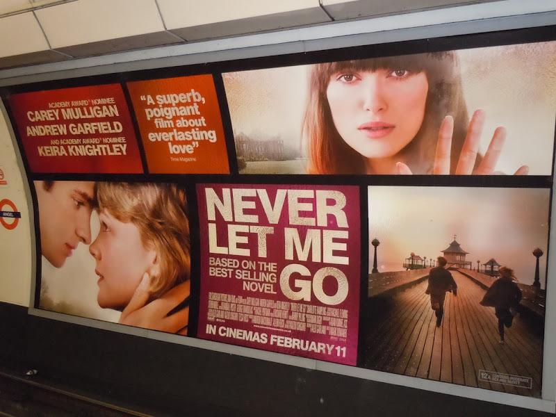 Never Let Me Go tube billboard