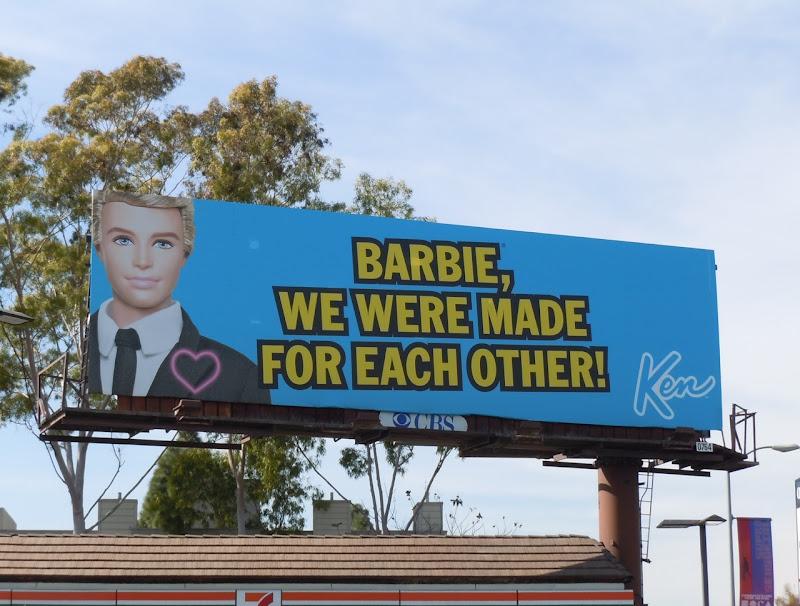 Ken made for Barbie billboard
