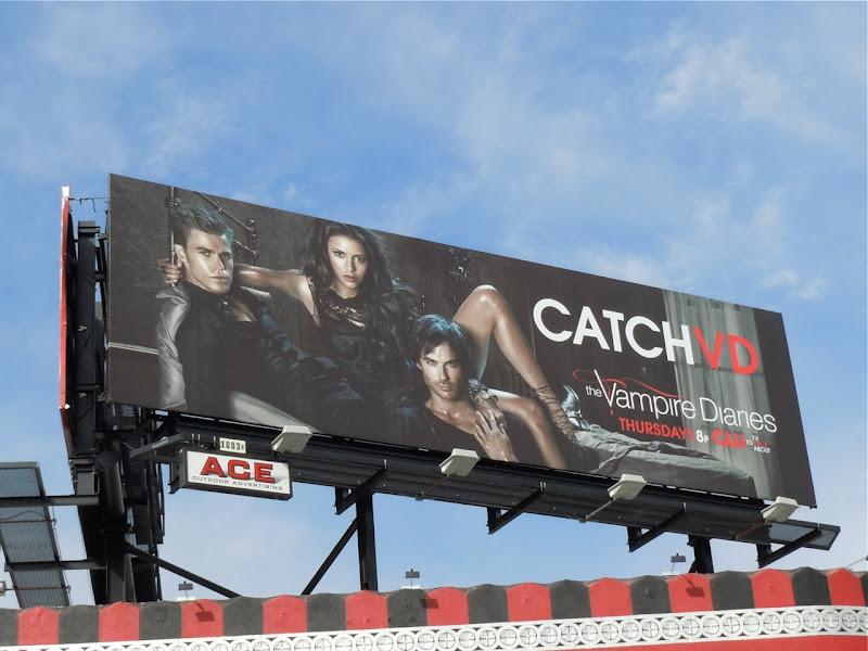 Vampire Diaries Catch VD TV billboard