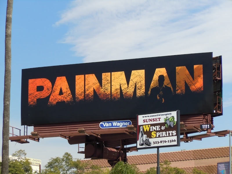Painman comic book billboard